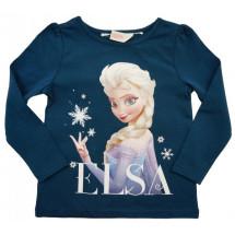 Кофта синяя на девочку с длинным рукавом Elsa