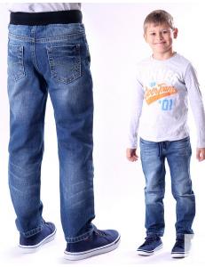 Джинсы потертые для мальчиков на резинке ligas