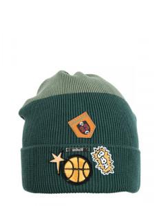 """Шапка демисезонная цвета хаки для мальчиков """"NBA"""""""