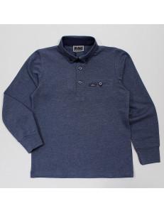 """Рубашка-поло для мальчиков цвета джинс """"Лори"""""""
