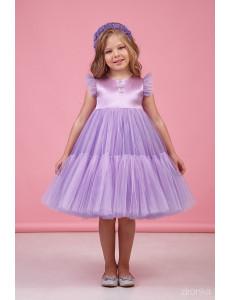 """Платье нарядное сиреневое для девочек с многослойной юбкой """"Одуванчик"""""""