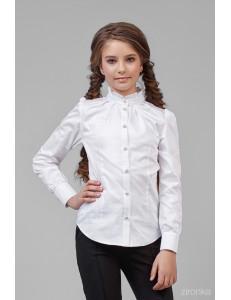 """Блузка белого цвета с воротником-стойкой """"Лолита"""""""