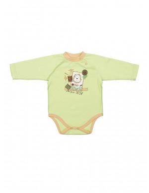 """Боди зеленого цвета для малышей """"лева"""""""